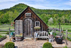 Casine di legno per il giardino