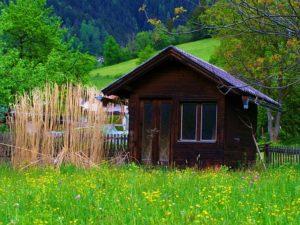 Box in legno per il giardino