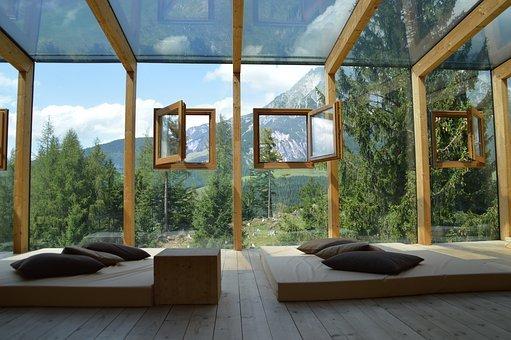 Casetta in legno abitabile in giardino