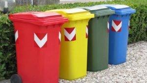 I bidoni per la spazzatura