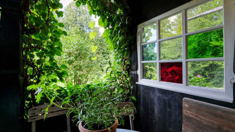 Inserire una casetta in legno in giardino